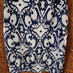 Ann Taylor print pencil skirt size 14